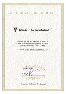 Certyfikat Desire design